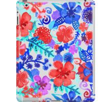 Fresh Watercolor Floral Pattern II iPad Case/Skin