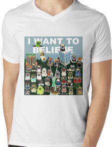 PUG FILES Mens V-Neck T-Shirt