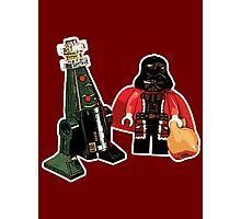 Santa Vader and a Droid Tree! Photographic Print