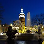 J.C. Nichols Fountain at Night by Jelderkc