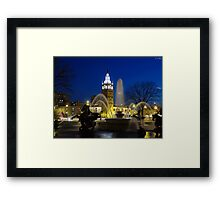 J.C. Nichols Fountain at Night Framed Print