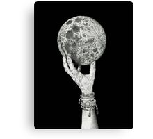 Moon in Her Hand Canvas Print