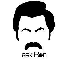 Ask Ron (light) Photographic Print