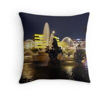 Fountain Reflections Throw Pillow