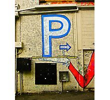 Parking on a Platter Photographic Print