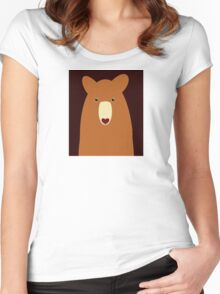 CINNAMON BEAR PORTRAIT Women's Fitted Scoop T-Shirt