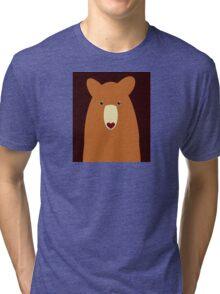 CINNAMON BEAR PORTRAIT Tri-blend T-Shirt