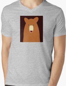 CINNAMON BEAR PORTRAIT Mens V-Neck T-Shirt