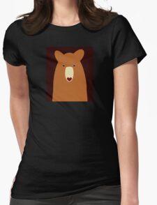 CINNAMON BEAR PORTRAIT Womens Fitted T-Shirt
