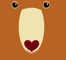 CINNAMON BEAR PORTRAIT Sticker