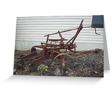 Farming equipment Greeting Card