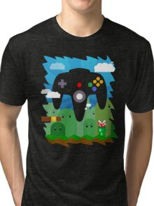 N64 LAND - CONTROLLER Tri-blend T-Shirt