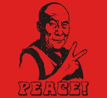 Dalai Lama Peace Sign T-Shirt Baby Tee
