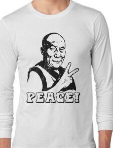 Dalai Lama Peace Sign T-Shirt Long Sleeve T-Shirt