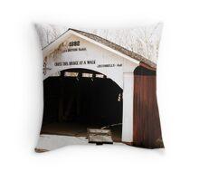 Narrows Covered Bridge Throw Pillow