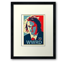 What would Riggins do? Framed Print