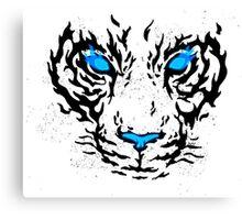 Blue Flame Tiger Canvas Print