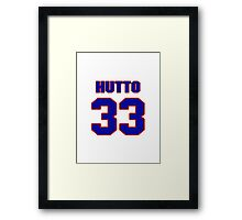 National baseball player Jim Hutto jersey 33 Framed Print