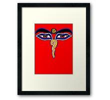 Buddha Eyes Symbol Framed Print