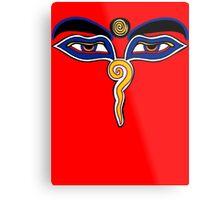 Buddha Eyes Symbol Metal Print