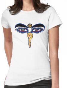 Buddha Eyes Symbol Womens Fitted T-Shirt