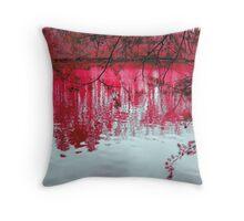 Crimson Reflection Throw Pillow