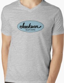 Jackson Black Blue  Mens V-Neck T-Shirt