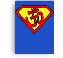 Super Om Symbol Canvas Print