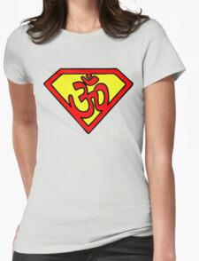 Super Om Symbol Womens Fitted T-Shirt