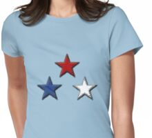 Red White and Blue Womens Fitted T-Shirt