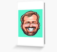 Self Caricature Portrait Greeting Card