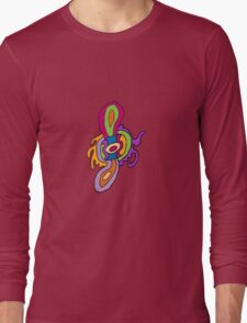 Abstract Spin-thingy Long Sleeve T-Shirt