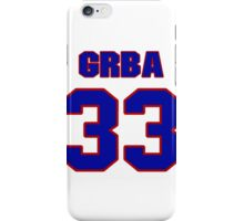 National baseball player Eli Grba jersey 33 iPhone Case/Skin