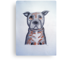 Buffy the Staffordshire Bull Terrier Metal Print