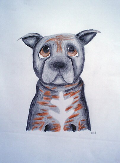 Buffy the Staffordshire Bull Terrier by Katie Weychardt