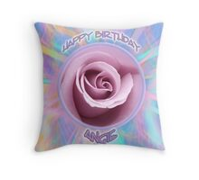personalised card example Throw Pillow