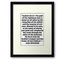 Pulp Fiction - Ezekiel 25:17 Full Framed Print