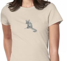 scruffy Womens Fitted T-Shirt