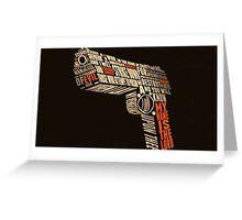 Pulp Fiction - Gun art Greeting Card