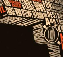 Pulp Fiction - Gun art Sticker