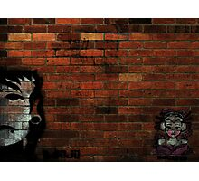 Faces on a Wall Photographic Print