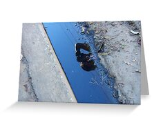 shooting puddles Greeting Card