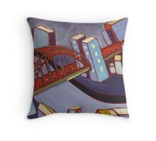 City by the river Throw Pillow