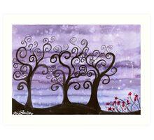 Starlit Trees Art Print