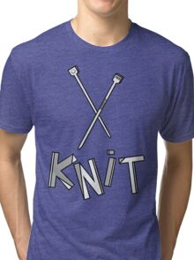 knit!!! Tri-blend T-Shirt