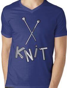 knit!!! Mens V-Neck T-Shirt