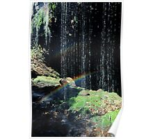Waterfall Rainbow Poster