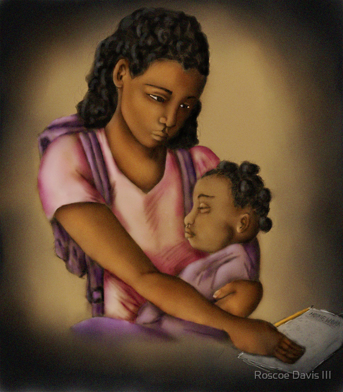 Young Mother (Collaboration W Shakira Rivers) by Roscoe Davis III