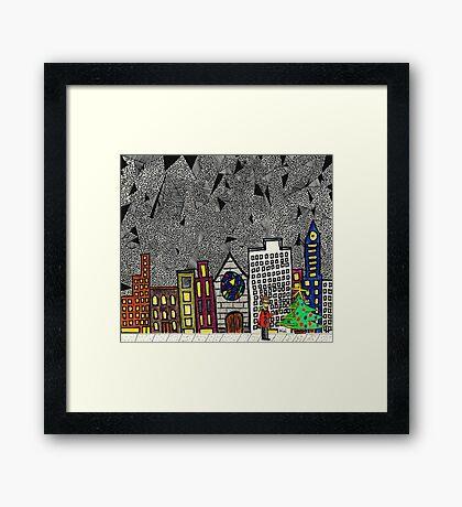 Christmas in the Big City with Yolanda Framed Print