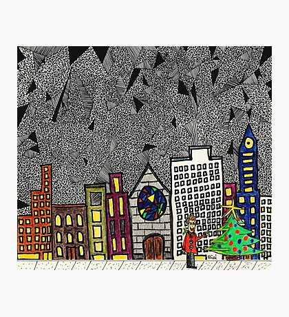 Christmas in the Big City with Yolanda Photographic Print